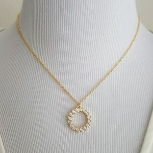 New kate spade Gold Tone Full Circle Necklace